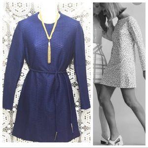 Vintage 60s mini dress S/M dark blue